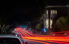 pine street canopy (pbo31) Tags: sanfrancisco california nikon d810 color night dark black july 2018 summer boury pbo31 lightstream motion traffic roadway infinity cathedralhill pacificheights canopy pinestreet red
