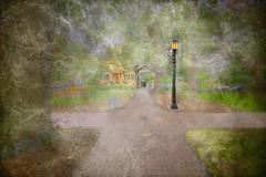 Oglethorpe Square (LarryHB) Tags: hdr horizontal photography texture historic old park georgia savannah tree digitalart larrybraunphotography church