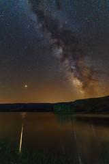 Marte y la via lactea - Mars and the Milky Way (teredura58) Tags: via lactea mil way marte mars laguna negra black lagoon neila nocturna night sonyflickraward