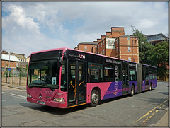 Uno 327 (Jason 87030) Tags: theshuttle 1 uno pink purple town uon uni university graduation education wheels bendy bendibus mercedes benz citaro northampton northants northamptonshire color colour event ceremony 327 shuttle july 2018 mh06yjf sony alpha a6000 ilce nex lens tag flickr album street roadside stjohns uk england hatfield help