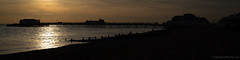 Worthing Pier (1862) (Rourkeor) Tags: carlzeiss england sonnart sonyrx1r uk westsussex worthing fullframe glistening silhouette panoramic