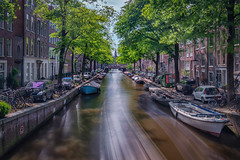 Speedboat - Amsterdam, Netherlands (Brentg33) Tags: ifttt 500px amsterdam netherlands holland sony alpha long exposure canal canals boat boats water speed motion trees noord north landscape landscapes travel travels