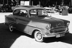Opel Rekord P1 (late 1950s) (mkk707) Tags: leicam3 leitzsummicronmi5cmcollapsible kodakportra400 blackwhite film vintagefilmcamera vintagelens vintagecar opelrekord technikmuseum sinsheim germancameras wwwmeinfilmlabde