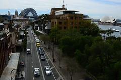 Sydney the rocks (moniq84) Tags: sydney rocks quartier circular quay opera house harbour bridge green trees cars sea travel australia city cityscape cityscapes view new south wales boat palaces palace