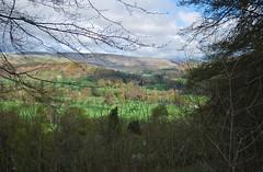 Near Berwyn 220418 - DSC_0379 (Leslie Platt) Tags: exposureadjusted straightened denbighshire deevalley riverdee llantysilio fromthea5