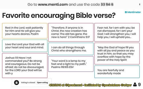 Favorite Encouraging Bible Verses by Wesley Fryer, on Flickr
