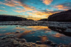 Blue Yellow (Crouchy69) Tags: sunrise dawn landscape seascape ocean sea water coast clouds sky rocks reflection devils cauldron whale beach sydney australia