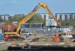 Thames Vixen + Dart (5) @ KGV Lock 17-04-18 (AJBC_1) Tags: northwoolwich newham londonboroughofnewham eastlondon london england unitedkingdom uk ship boat vessel tug tugboat livettsgroup thamesvixen dlrblog ©ajc nikond3200 pontoon marineengineering ajbc1 kinggeorgevlock kgvlock royaldocks gallionspoint londonsroyaldocks docklands greatbritain gb dart wmplanthire caterpillarcat345clongreachexcavator plant constructionequipment