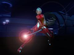 切っ先に込めた思い (Miyabi Harucus 1102) Tags: secondlife scene slavatar sexy cosplay cyber katana sword monso insilico 6doo maitreya japanese japan erotic shrine scfi