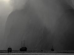 Milford Sound 1 New Zealand Series (desimage) Tags: newzealand milfordsound atmosphere transientlight sea fjord mountain storm desimage southisland