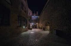 Intramuros (karinavera) Tags: city longexposure night photography cityscape urban ilcea7m2 medieval normandie street rue intramuros stone france town montsaintmichel