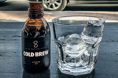 Kyoto cold brew (Melissa Maples) Tags: antalya turkey türkiye asia 土耳其 apple iphone iphonex cameraphone café thesudd spring ice glass coldbrew coffee drink food text bottle