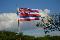 High flying Hawaii (radargeek) Tags: hawaii beach hookipabeachpark flag hawaiian maui isleofmaui island may 2017 sky clouds