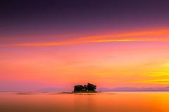 sunset 2545 (junjiaoyama) Tags: japan sunset sky light cloud weather landscape orange purple yellow pink color lake island water nature summer calm reflection dusk serene bright