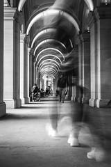 Foot Traffic (SemiXposed) Tags: blur long exposure melbourne city urban walking sitting day sony australia