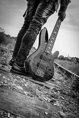 Music (corineouellet) Tags: québec canada bass guitar music photo art traintracks tracks shooting photoshoot canonphoto canoncanada canon blackandwhite bnw