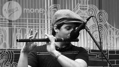 Fringe on the Mile 2018 037 (byronv2) Tags: fringe fringe2018 edinburghfestivalfringe2018 royalmile oldtown festival festivalfringe edinburgh edimbourg scotland blackandwhite blackwhite bw monochrome peoplewatching candid street flute flautist music musician cap man performer