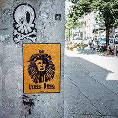 The Lying King (ep_jhu) Tags: x100f logancircle washington trump trent fuji lyingking graffiti streetart dc lionking fujifilm districtofcolumbia unitedstates us