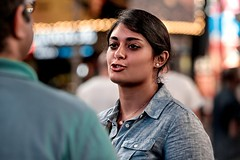"""""""...For Sure..."""" (36D VIEW) Tags: canonfd135mmf25 135mm mirrorless sony a7rii a7rm2 vintage prime bokeh timessquare candid"""