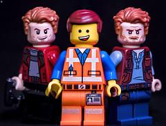 Triple Pratt (Jezbags) Tags: triple pratt chris starlord owen grady jurassicpark avengers guardiansofthegalaxy emmet lego legos toy toys owengrady canon canon80d 80d 100mm closeup upclose