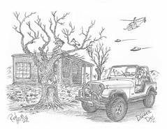 Digger Dan (rod1691) Tags: myart art sketchbook bw scfi grey concept custom car retro space hotrod drawing pencil h2 hb original story fantasy funny tale automotive illustration greyscale moonpies sketch sexy voodoo