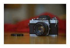 Minolta XE5 (VanveenJF) Tags: kollmorgen sony vintage film 35mm alberta lens usa a7ll red bokeh cinelux soft nice canada legacy macro wood minolta rokkor xe5