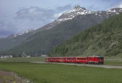 Rhb Ge 4/4 II 613 Bever 02/06/2008 (stefano.trionfini) Tags: train treni bahn zug rhb ge44ii engadina retiche svizzera suisse
