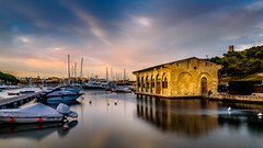 waiting for guests (K.H.Reichert [ not explored ]) Tags: valletta bluehour boot msida reflection spiegelung malta boat boats wasser reflexion church