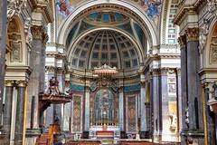 London Oratory 3 (Raphooey) Tags: gb uk england london brompton road kensington capital city town church cathedral chapel oratory portland stone dome domes facade religion roman catholic garde ii listed listing marble deatil detailed ornate elaborate canon eos 80d hdr