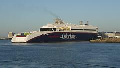 Hirtshals DK Hafen (achatphoenix) Tags: hirtshals hafen fährhafen fishingvillage fischereihafen harbour port fähre colorline ship