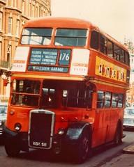 London transport RTW11 on route 176 mid 1960's. (Ledlon89) Tags: bus buses london transport lt lte londonbus londonbuses vintagebuses londontransport