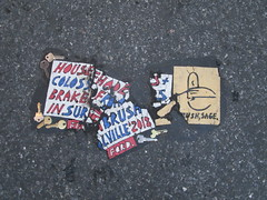 Cowboy Profile With Keys House of Hades Toynbee Tile 6662 (Brechtbug) Tags: cowboy profile with keys house hades toynbee tile broken up 41st street 6th ave new york city plus colossus roads brakeman brush in surrealville 2018 ford art artist mosaic parts part shattered smashed jumbled black top asphalt 07302018 nyc cow boy caricature sixth avenue forty first