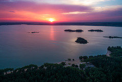 Aerial Sunset in Minsk (free3yourmind) Tags: aerial sunset quadcopter xiaomi mi drone minsk belarus lake sea islands nature forest