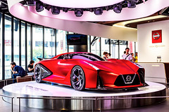Nissan Concept 2020 Vision Gran Turismo : 日産コンセプト2020ビジョングランツーリスモ (Dakiny) Tags: 2018 summer july japan tokyo chuo chuoku chuoward ginza city street indoor nissancrossing gallery showroom nissan car automobile vehicle red bokeh nikon d750 tamron 35mm f18 tamronsp35mmf18divcusd tamronsp35mmf18divcusdmodelf012 sp35mmf18divcusd sp35mmf18divcusdmodelf012 modelf012