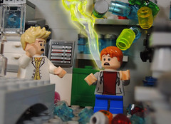 Lightning Stirkes Twice (-Metarix-) Tags: lego minifig dc comics comic flash kid wally west barry allen speedforce lightning strikes twice forensic lab custom