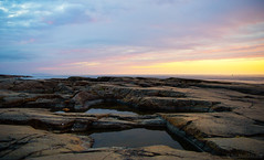 Sunset colours (Joni Mansikka) Tags: summer nature outdoor sea shore rocky coast sky colours clouds horizon seascape balticsea kallo pori suomi finland sunset atx280afpro tokinaaf2880mmf28