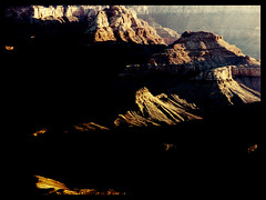 Grand Sunrise  (Film) (Harald Philipp) Tags: outdoors rural panorama landscape desert natural scenic canyon mountain hill holiday vacation tourism tourist exotic destination travel adventure wanderlust beautiful romantic mysterious shadows velvia fuji 120film film analog analogue filmphotography mediumformat tripod pentax 645 sun twilight earlymorning sunrise sunup unitedstates usa park nationalpark grandcanyon arizona dawn