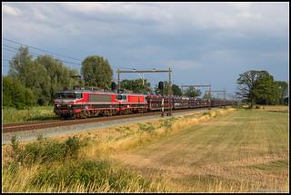 Captrain 1619+1618+Gefco-autotrein, Hengelo, 25-7-2018