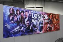 London Film and Comic Con poster (ec1jack) Tags: londonfilmandtvcon london film tv con kensington olympia costumes cartoons england britain uk europe ec1jack kierankelly canoneos600d july summer 2018 saturday londonfilmandcomiccon comic banner poster drwho