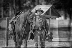 civil war reenactment. july 2018 (timp37) Tags: black white soldier civil war reenactment illinois july 2018 summer horse rider lombard four seasons park