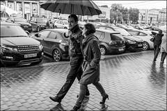 4_DSC4499 (dmitryzhkov) Tags: urban city everyday public place outdoor life human social stranger documentary photojournalism candid street dmitryryzhkov moscow russia streetphotography people man mankind humanity bw blackandwhite monochrome rain autumn badweather