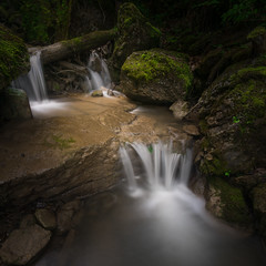 Waterfall in Homole Canyon- (KrzysztofMikulski) Tags: landscape poland outdoors day sun summer sky wild pl fog mist forest woodland tree birch oak rocks flowers polska sony a7r ilce canon 70 200 f4 is voigtlander manfrotto 055 xprob comelite adapter digital nature fotografia krajobraz puszcza niepołomicka rise set zima winter spring wiosna autumn jesień lato morning frozen detail porosty soft light waterfall canyon way
