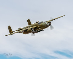 """Buster"" 1944 North American B-25J Mitchell N41123 belonging to Flying Heritage & Combat Museum (Hawg Wild Photography) Tags: buster 1944 north american b25j mitchell n41123 flying heritage combat museum paulgallen 2018 fhcam skyfair painefieldairportkpae snohomishcountywashington warbird wwii bomber terrygreen hawg wild photography"