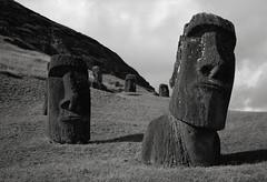Moai, Rano Raraku, Easter Island (austin granger) Tags: easterisland rapanui ranoraraku moai hinariru heads stone evidence buried time archaeology sculptures film gw690ii