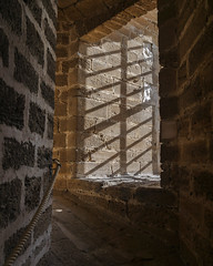 The incline (Adaptabilly) Tags: building shadow floor atlantic spain handrail travel ceiling interior brick architecture wall cadiz europe lumixgx7 light
