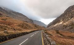 Snowdon, Wales, UK (Alex Vikingo) Tags: snowdon wales uk unitedkingdon greatbritan montains snow road way sky clouds river lake walking cold winter