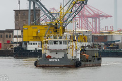 Norma (frisiabonn) Tags: norma dredger boskalis westminister vehicle ship water wirral liverpool england uk britain marine vessel river mersey merseyside sea shore waterfront maritime boat outdoor