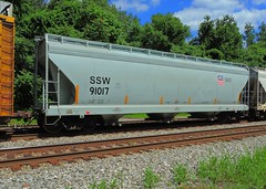 SSW 91017 (Proto-photos) Tags: ssw up unionpacific saintlouissouthwestern railcar train railroad freightcar connellsville pennsylvania rollingstock 3bay c313 lo coveredhopper 91017