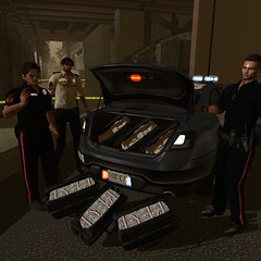 After The Bust (Juwan A. Griffin-DeVeaux) Tags: secondlife secondlife:region=islandofathena secondlife:parcel=coastalheights secondlife:x=78 secondlife:y=244 secondlife:z=6 police cops drugs money role play feds chpd pd