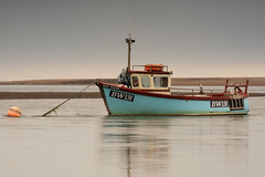 May Evans is back (alan.dphotos) Tags: ravenglass lake district cumbria estuary boats mooring wildlife reserve tidal may evans bw131 sand tide water sea shingle